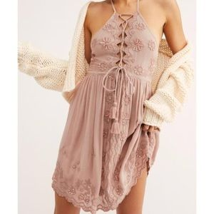 Free People Shake it Up Floral Sequin Slip Dress